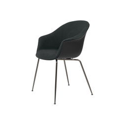 Bat Dining Chair - Front Upholstered, Conic base | Sillas | GUBI