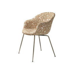 Bat Dining Chair - Fully Upholstered- Conic base | Sillas | GUBI