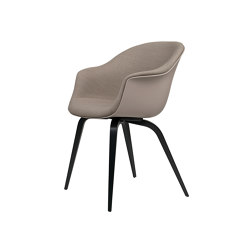 Bat Dining Chair - Front Upholstered, Wood base | Sillas | GUBI