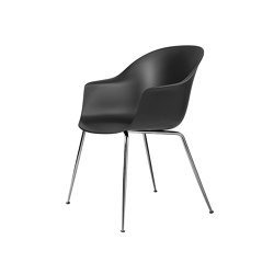 Bat Dining Chair - Un-ophulstered, Conic Base, Chrome | Stühle | GUBI