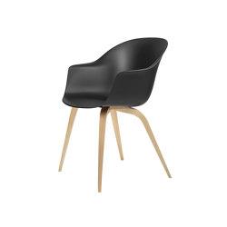 Bat Dining Chair - Un-Upholstered- Wood base | Sillas | GUBI