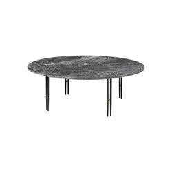 IOI Coffee Table Ø100 | Black Semi Matt/Grey Emperador Marble | Tables basses | GUBI