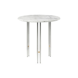 IOI Coffee Table Ø50 |  Chrome/White Carrara Marble | Tavolini alti | GUBI