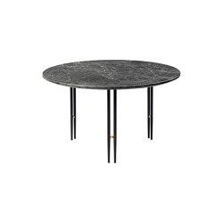 IOI Coffee Table Ø70 | Black Semi Matt/Grey Emperador Marble | Tables basses | GUBI