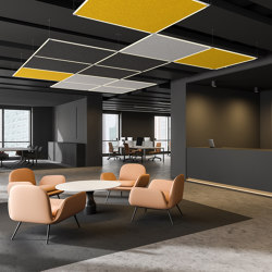 Acoustic Panels, Horizontal | Sound absorbing suspended panels | Koncept