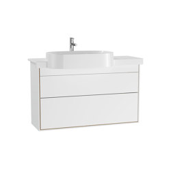 Voyage Washbasin Unit with Ceramic Vanity | Wash basins | VitrA Bathrooms