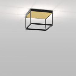 REFLEX² M 200 black | pyramid structure gold | Plafonniers | serien.lighting
