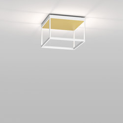 REFLEX² M 200 white | pyramid structure gold | Ceiling lights | serien.lighting