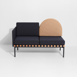 Grid | 2 seater sofa with one armrest | Sofas | Petite Friture