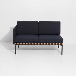 Grid | 2 seater sofa with one armrest | Divani | Petite Friture