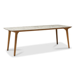 Torsa high dining table 264x118 | Standing tables | Manutti