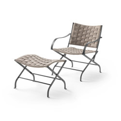 Carlotta Armchair with Footstool Outdoor | Sillones | Flexform