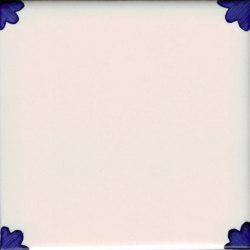 LR PO Giglio Angolo Pennellato Blu | Ceramic tiles | La Riggiola