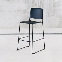 Ema stool with open backrest | Bar stools | ENEA
