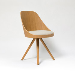 Kaiak spin wood chair | Sedie | ENEA