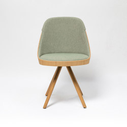 Kaiak spin wood chair | Sedie | ENEA