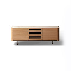 "Adara ""Sixties"" TV Cabinet with grooved doors. 