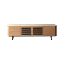 Adara TV Cabinet with plain and grooved doors | Multimedia sideboards | Momocca