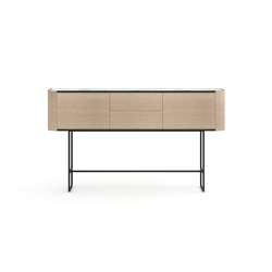 Adara Console Table with drawers, plain doors (high legs) | Console tables | Momocca