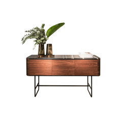 Adara Console Table with drawers, plain doors (high legs) | Consolle | Momocca