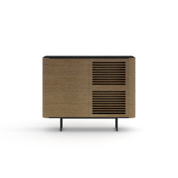 Adara Console (stacked modules) with grooved doors | Console tables | Momocca