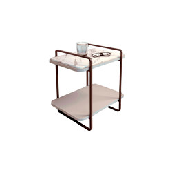 Adara bedside table with natural stone at the top | Comodini | Momocca