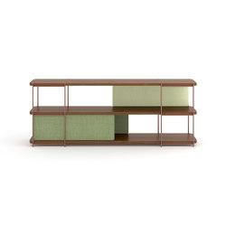 Julia modular walnut furniture | Shelving | Momocca