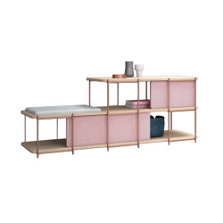 Julia Oak sideboard with bench and upholstery panels | Scaffali | Momocca
