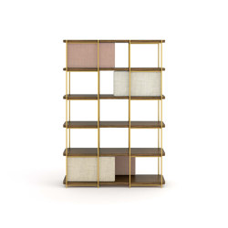 Estantería modular de madera de roble Julia | Estantería | Momocca
