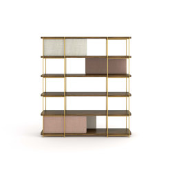 Julia Modular bookcase of oak wood | Shelving | Momocca