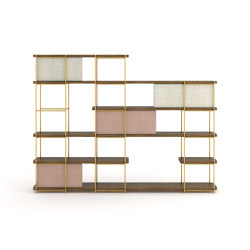 Julia Wooden sheving with metallic structure | Shelving | Momocca