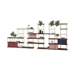 Julia Lobby modular shelving system with sliding panels | Shelving | Momocca