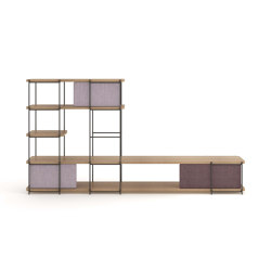 Julia Oak wood modular living room furniture | Shelving | Momocca