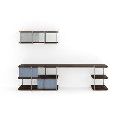 Bureau modulaire Julia avec étagère suspendue | Étagères | Momocca