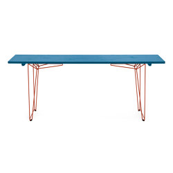 BTB | Table and Bench, tabletop Light blue RAL 5012 | Mesas comedor | Magazin®