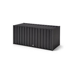 DS Container | black grey RAL 7021, with lock | Credenze | Magazin®