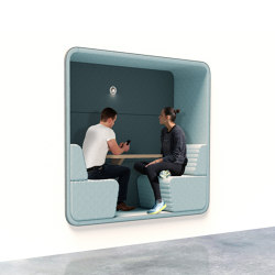 Cabin | Built-in 2-persons | Sound absorbing architectural systems | Conceptual