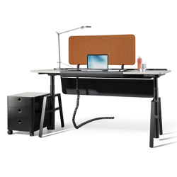 etio one-person workstation electrically height-adjustable | Contract tables | Wiesner-Hager