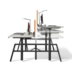 etio dual workspace electrically height-adjustable | Tavoli contract | Wiesner-Hager