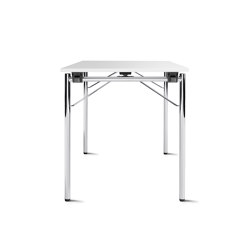 f.t.s. folding table 4-leg base, round feet | Tavoli contract | Wiesner-Hager