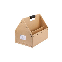 Handle leather to Toolbox, Natural | Storage boxes | BIARO