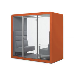 Space 2 | Burnt Orange | Office Pods | Silen