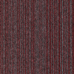 Carpet Foundry - Acoustic Option | Cranberry & Dusk Stripe | Carpet tiles | Amtico