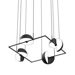 Trapeze Quartette Black | Suspended lights | Oblure