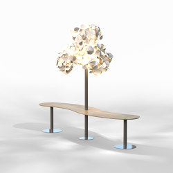 Leaf Lamp Metal Tree w Seamless Table | Free-standing lights | Green Furniture Concept