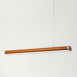 Ellipse Cognac | Suspended lights | Leather&Light