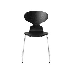 Ant™ | 3101, Black, coloured ash, chrome base | Sillas | Fritz Hansen