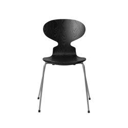 Ant™ | 3101, Black, coloured ash, silver grey base | Sillas | Fritz Hansen