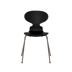 Ant™ | 3101, Black, lacquered, brown bronze base | Stühle | Fritz Hansen