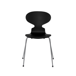 Ant™ | 3101, Black, lacquered, silver grey base | Stühle | Fritz Hansen